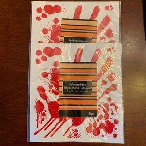 Halloween Decal Blood Splatter 2pk
